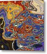 0615 Abstract Thought Metal Print