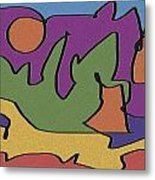 0638 Abstract Thought Metal Print