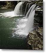 0804-0013 Falling Water Falls 4 Metal Print by Randy Forrester