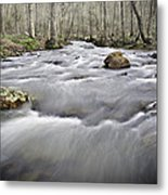 0804-0122 Rolling Creek Of The Ozark Mountains Metal Print