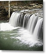 0805-005b Falling Water Falls 2 Metal Print by Randy Forrester