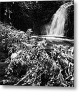 Gleno Or Glenoe Waterfall Beauty Spot County Antrim Northern Ireland Metal Print by Joe Fox