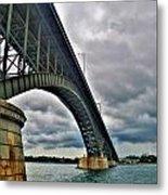 009 Stormy Skies Peace Bridge Series Metal Print