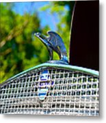 1931 Chevrolet Ae Independence Hood Ornament Metal Print by Paul Ward