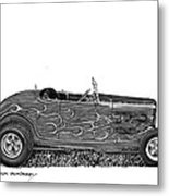 1932 Ford Hi Boy Hot Rod Metal Print