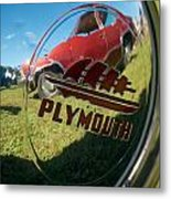 1947 Plymouth Coupe Hubcap Metal Print
