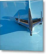 1955 Chevrolet Belair Hood Ornament 2 Metal Print