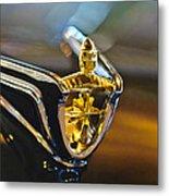 1956 Lincoln Premiere Convertible Hood Ornament Metal Print