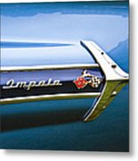 1960 Chevrolet Impala Emblem Metal Print