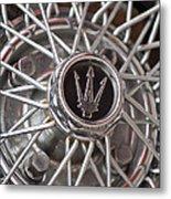 1972 Maserati Ghibli 4.9 Ss Spyder Wheel Metal Print
