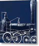 19th Century Locomotive Metal Print