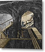 19th-century Mining Metal Print by Sheila Terry