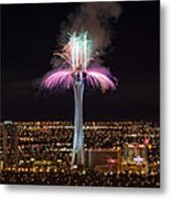 2011 New Year's Fireworks - The Stratosphere Metal Print