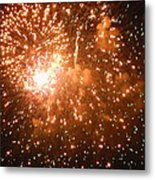 4th Of July Fireworks In Dc  Metal Print
