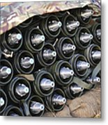 81mm Mortar Rounds Ready Stacked Ready Metal Print