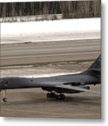 A B-1b Lancer Performs A Touch And Go Metal Print