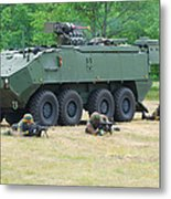 A Belgian Army Piranha IIic With The Fn Metal Print