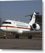 A Bombardier Global 5000 Vip Jet Metal Print