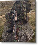A British Soldier Armed With A Sniper Metal Print