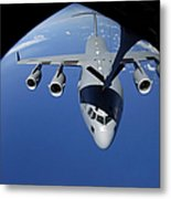 A C-17 Globemaster IIi Receives Fuel Metal Print by Stocktrek Images