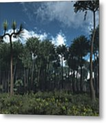 A Carboniferous Forest Of Midwestern Metal Print