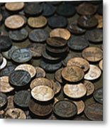 A Close View Of American Money Metal Print