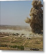 A Cloud Of Dust And Debris Rises Metal Print