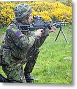 A Coldstream Guard Training In Scotland Metal Print