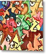 A Face In The Crowd Metal Print