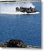 A Landing Craft Air Cushion Approaches Metal Print