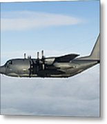 A Mc-130p Combat Shadow In Flight Metal Print