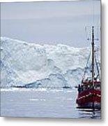A Midnight Cruise Around The Ilulissat Metal Print