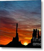 A New Day At The Totem Poles Metal Print