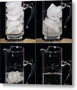 A Pitcher Of Ice Melts Over 4 Hours Metal Print