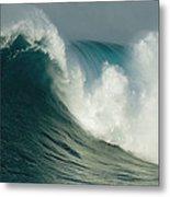 A Powerful Wave, Or Jaws, Off The North Metal Print