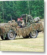 A Recce Unit Of The Belgian Army Metal Print