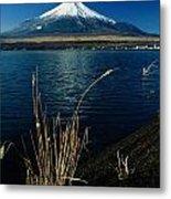 A Scenic View Of Mount Fuji Taken Metal Print