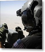 A Soldier Provides Security Metal Print
