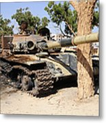A T-72 Tank Destroyed By Nato Forces Metal Print