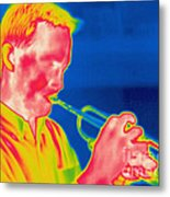 A Thermogram Of A Musician Playing Metal Print