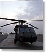 A Uh-60 Black Hawk Helicopter Metal Print