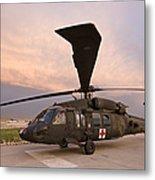 A Uh-60l Black Hawk Medevac Helicopter Metal Print