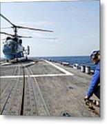 A Ukrainian Navy Ka-27 Helix Helicopter Metal Print