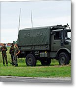 A Unimog Vehicle Of The Belgian Army Metal Print