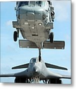 A U.s. Navy Mh-60s Seahawk Helicopter Metal Print