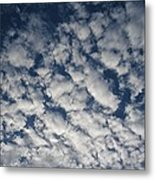 A View Of A Cloud-filled Sky Over Miami Metal Print