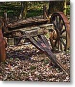 Abandoned Wagon Metal Print