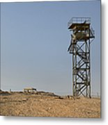 Abandoned Watchtower In The Desert Metal Print