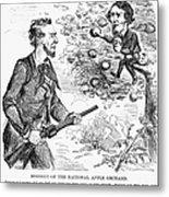 Abraham Lincoln Cartoon Metal Print