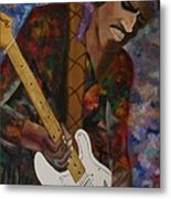 Abstract Jimi Hendrix Metal Print